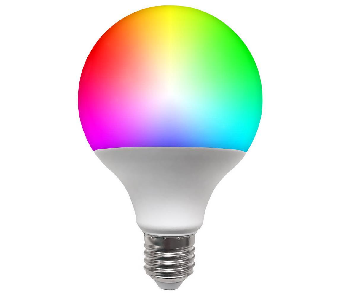 Polux LED RGB Stmívatelná žárovka G95 E27/9W/230V