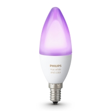 LED RGB Stmívatelná žárovka Philips HUE WHITE AND COLOR AMBIANCE E14/6W/230V