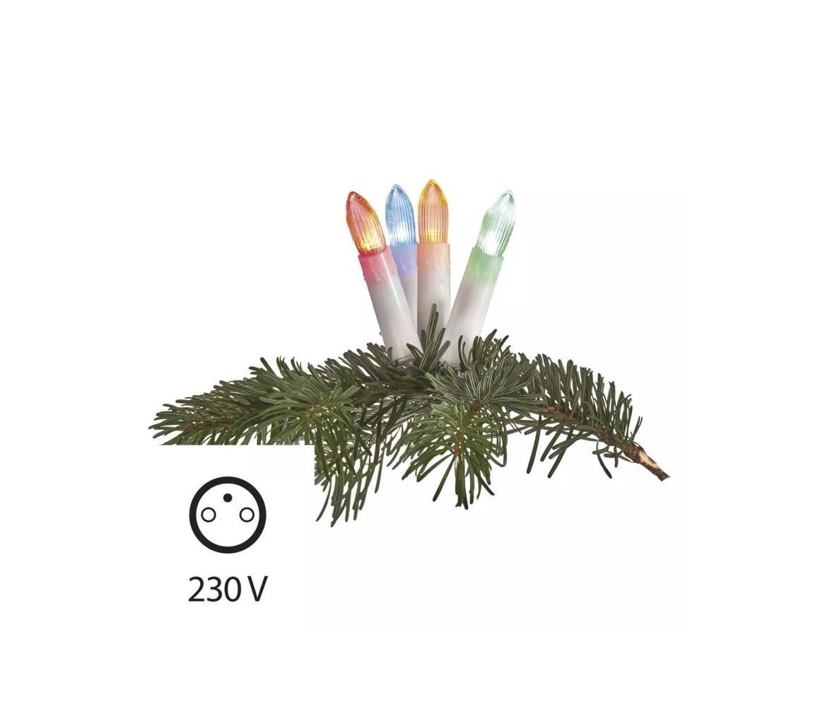EMOS LED RGB Venkovní vánoční řetěz 20xLED/1,2W/230V IP44