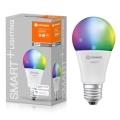 LED RGBW Stmívatelná žárovka SMART+ E27/9,5W/230V 2700K-6500K wi-fi - Ledvance