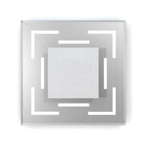 LED schodišťové svítidlo CRISTAL 02 6xLED/0,48W/12V nerez 6000K