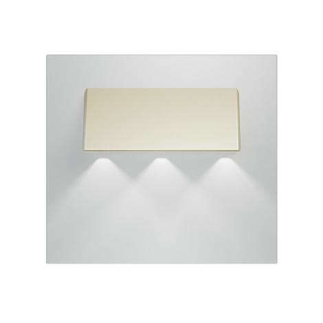 LED schodišťové svítidlo GAMA 3xLED/0,24W/12V satina 6000K