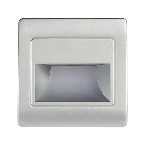 LED Schodišťové svítidlo se senzorem STEP LIGHT NET LED/1,5W/230V stříbrná