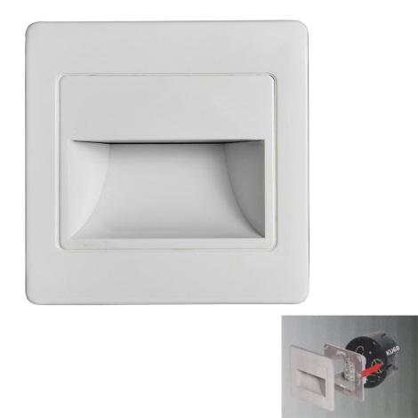 LED Schodišťové svítidlo STEP LIGHT LED/1,5W/230V stříbrná