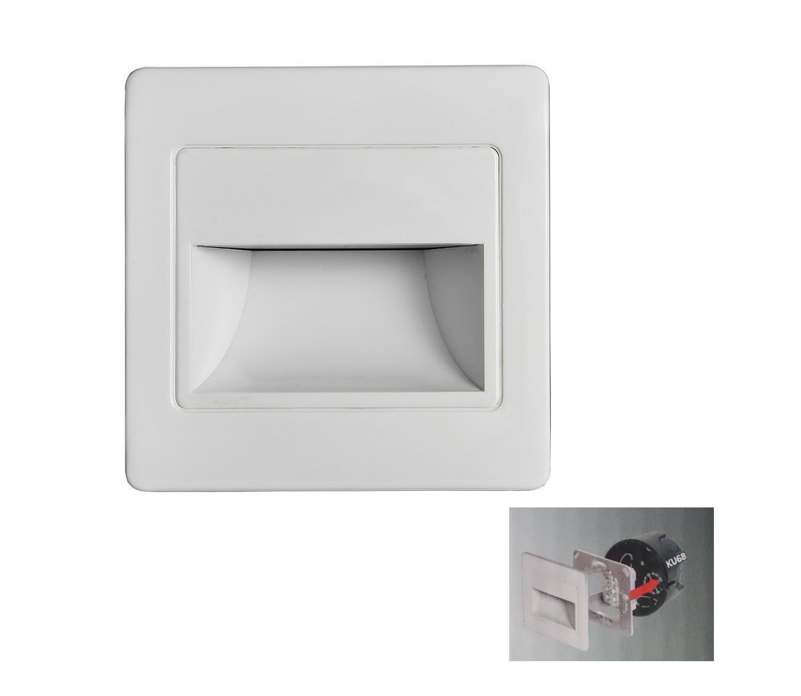 Emithor LED Schodišťové svítidlo STEP LIGHT LED/1,5W/230V stříbrná 70410