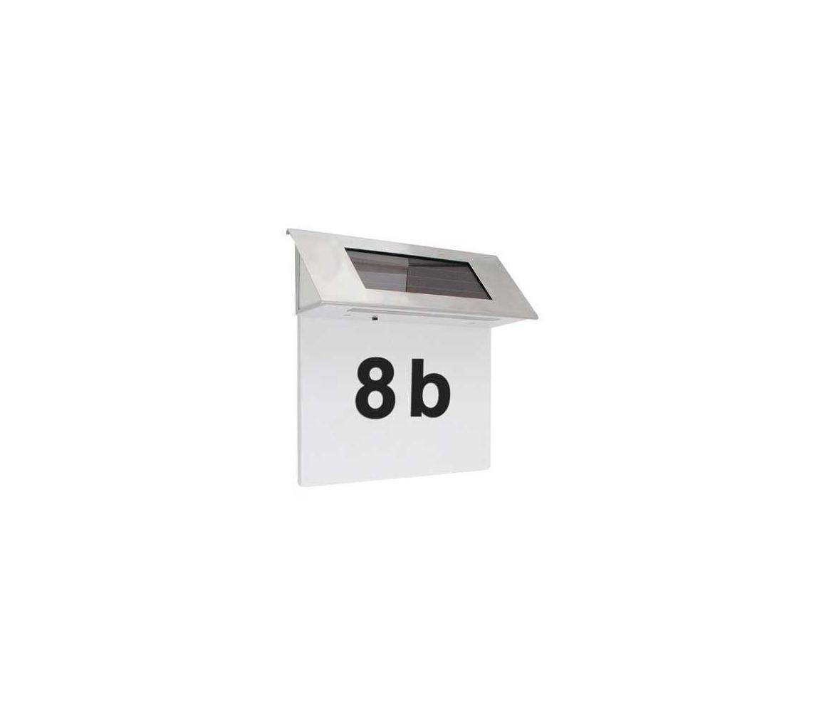 Hadex LED solární domovní číslo