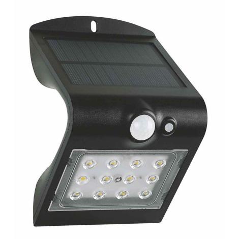 LED Solární nástěnné svítidlo se senzorem LED/1,5W IP65