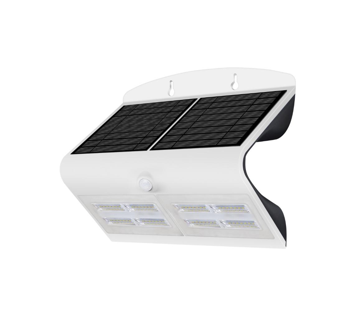 Solární nástěnné svítidlo se senzorem LED/6,8W IP65 bílé