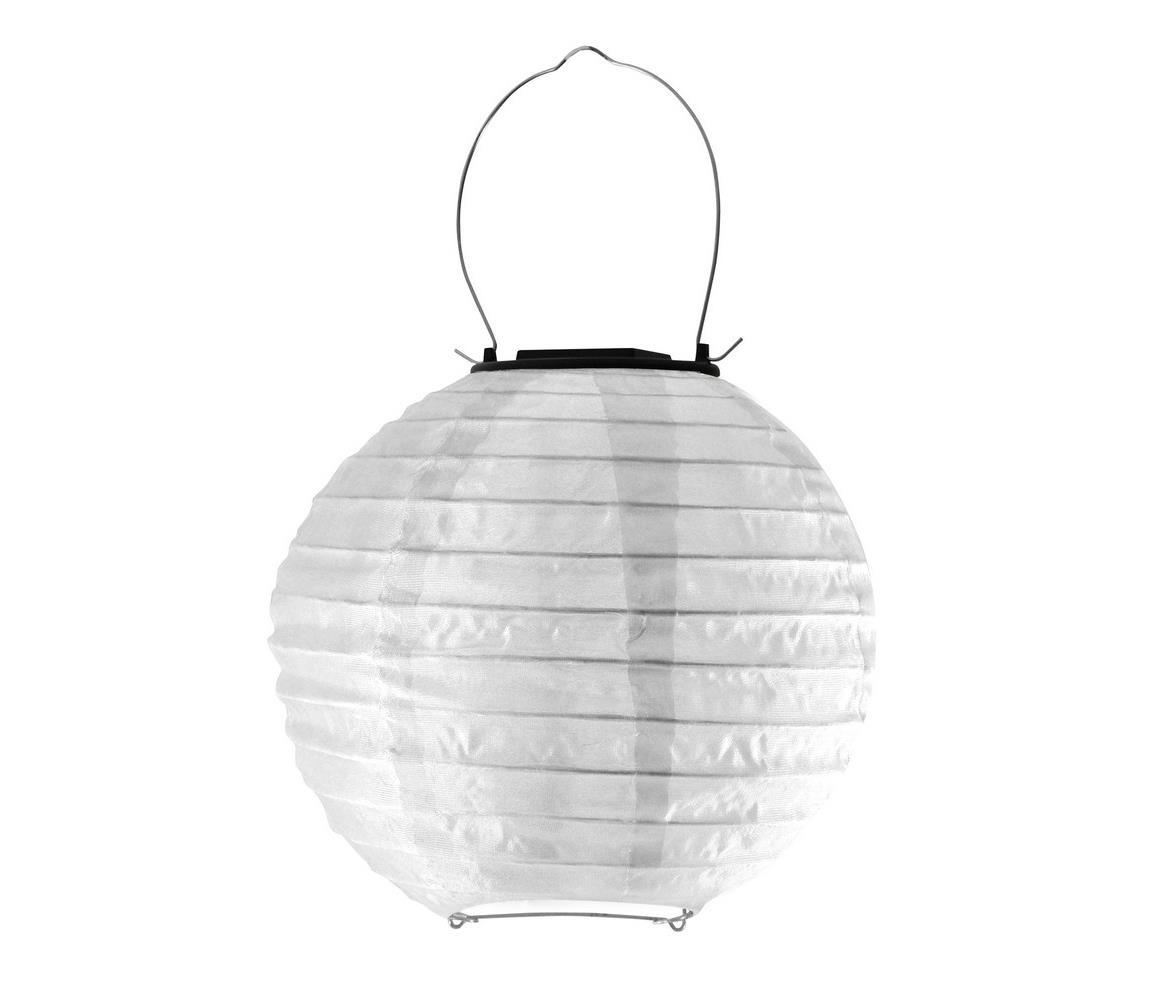 Polux LED Solární svítidlo LAMPION LED/1,2V IP44 6500K bílá