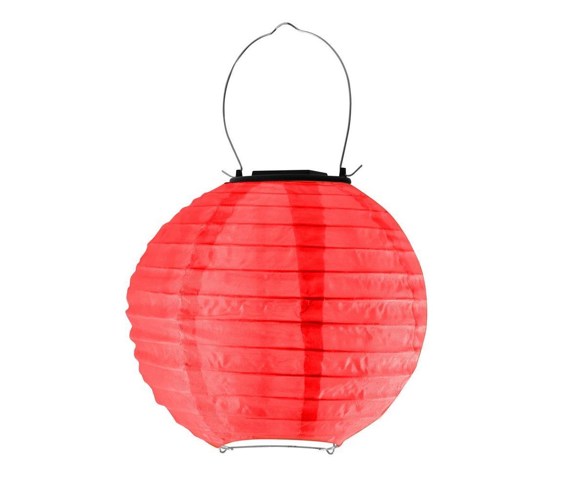 Polux LED Solární svítidlo LAMPION LED/1,2V IP44 6500K červená