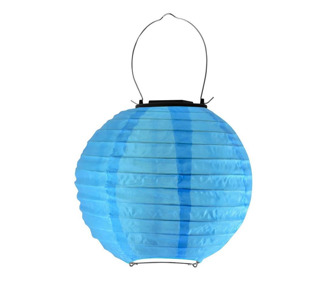 Polux LED Solární svítidlo LAMPION LED/1,2V IP44 6500K modrá