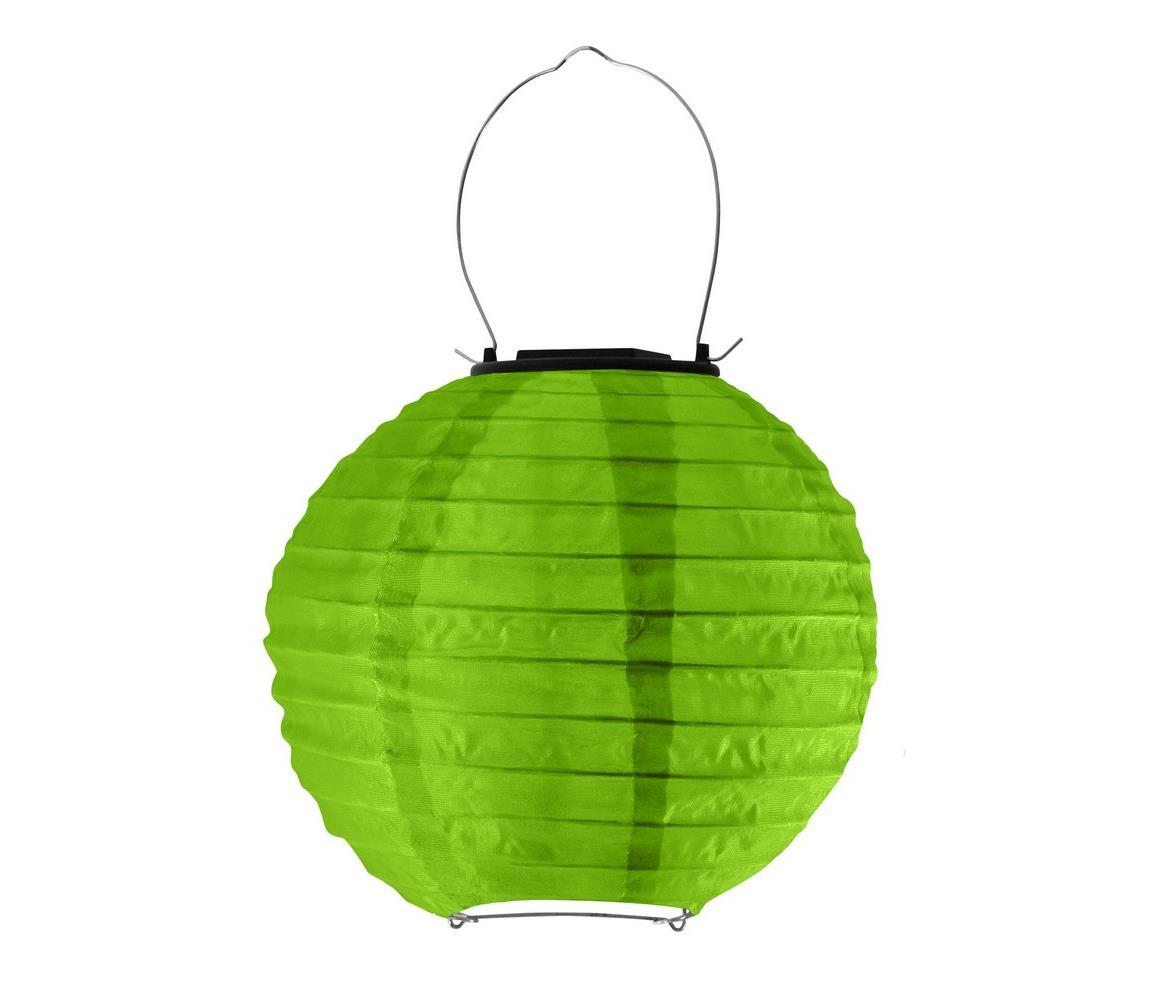 Polux LED Solární svítidlo LAMPION LED/1,2V IP44 6500K zelená