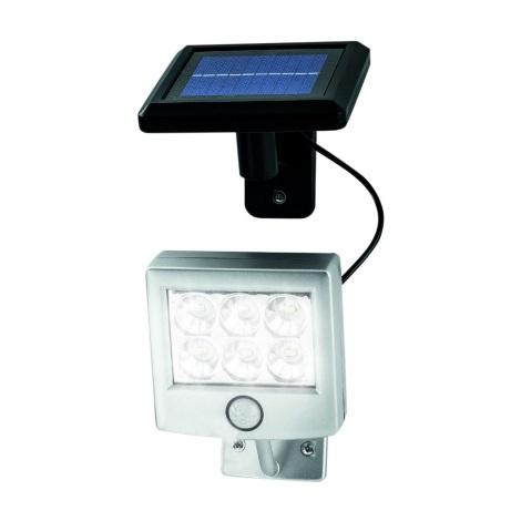 LED Solární svítidlo se senzorem pohybu a soumraku LED/3xAA IP44