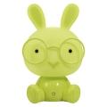 LED Stmívatelná dětská noční lampička 2,5W/230V králík zelená