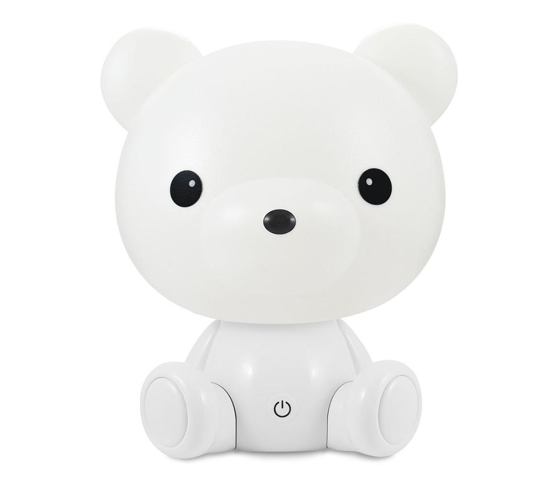 Polux LED Stmívatelná dětská noční lampička LED/2,5W/230V medvídek bílá SA0792