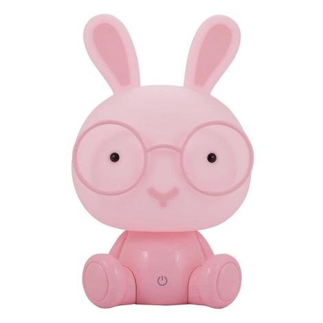 LED Stmívatelná dětská noční lampička LED/2,5W králík růžová