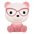 LED Stmívatelná dětská noční lampička LED/2,5W medvěd růžový