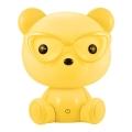 LED Stmívatelná dětská noční lampička LED/2,5W medvěd žlutý