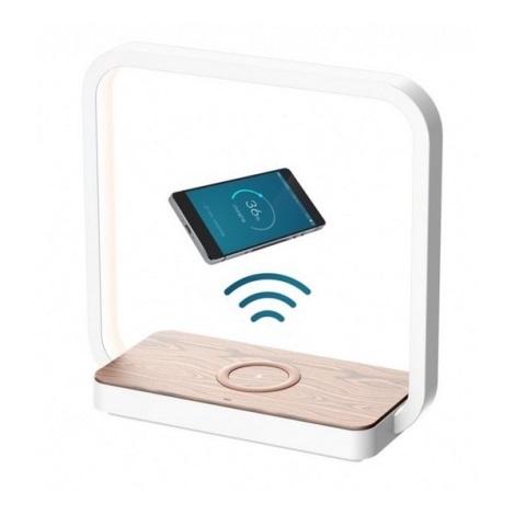 LED Stmívatelná dotyková stolní lampa LED/4W/5V bílá s bezdrátovým dobíjením