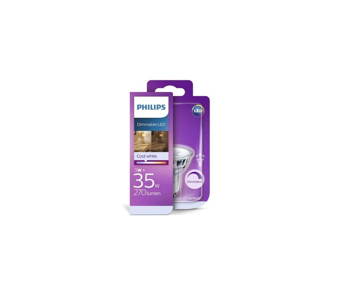 Philips LED Stmívatelná žárovka Philips GU10/4W/230V 4000K