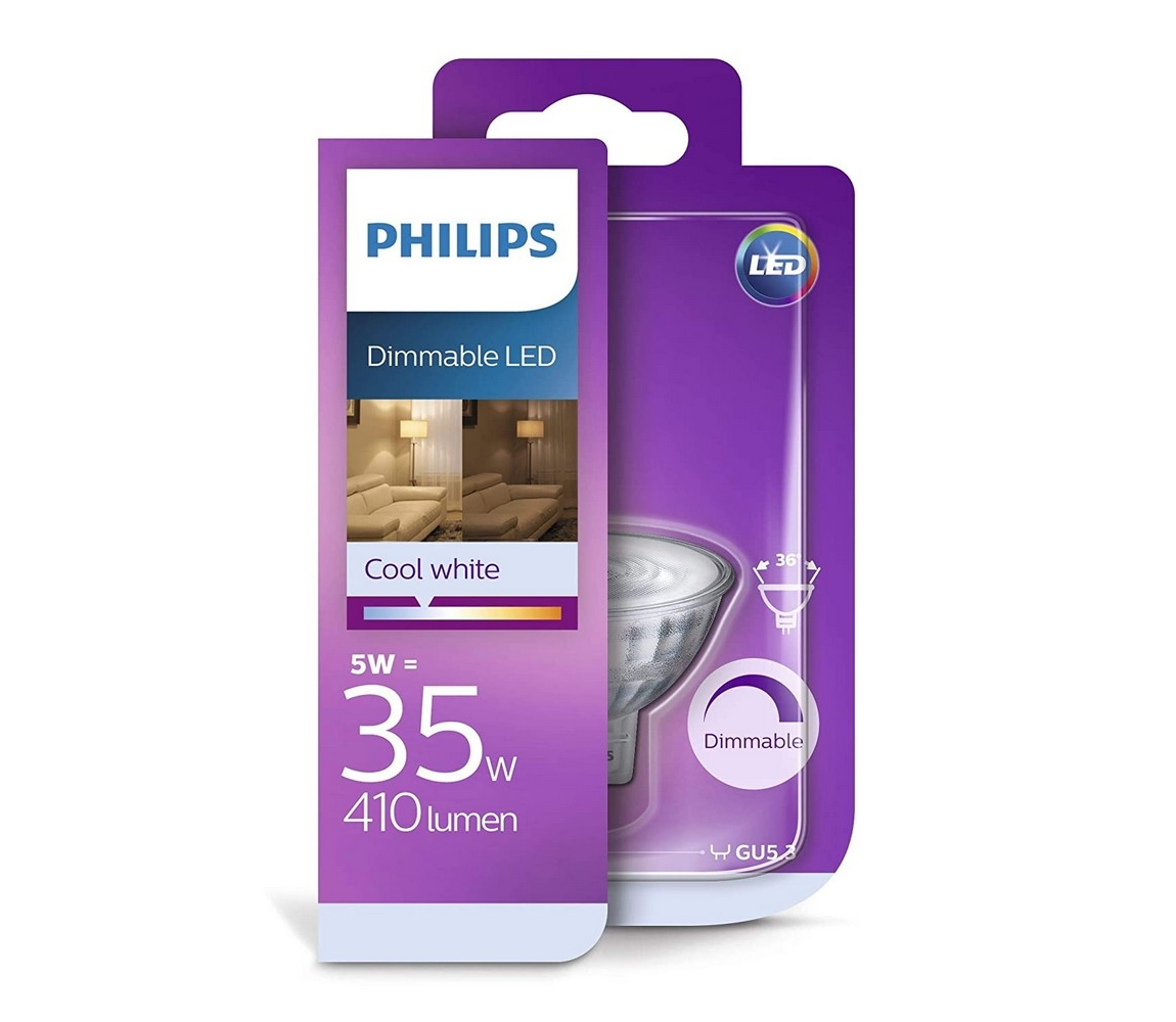 Philips LED Stmívatelná žárovka Philips GU5,3/MR16/5W/12V 4000K
