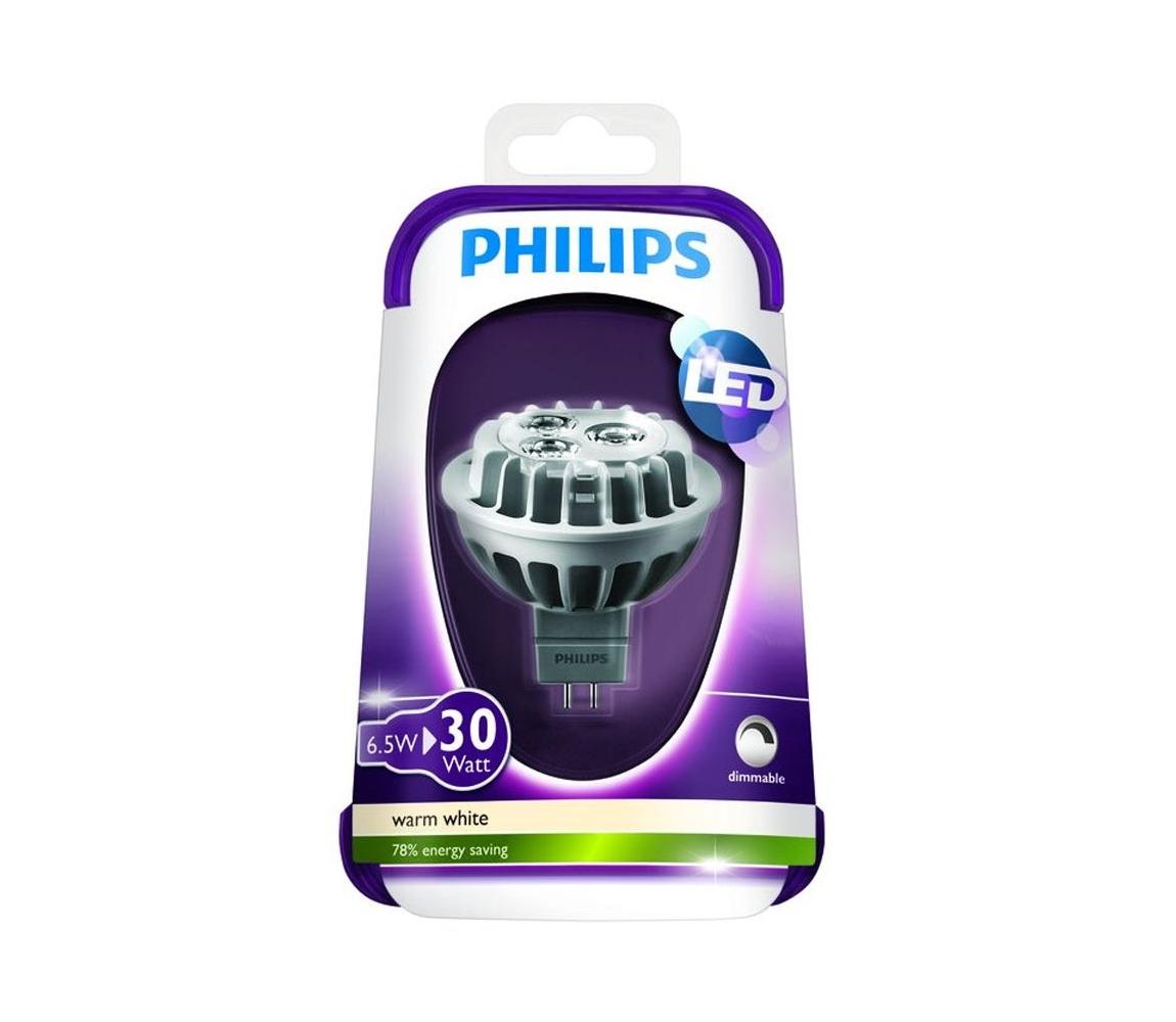 Philips LED Stmívatelná žárovka Philips GU5,3/MR16/6,5W/12V 2700K