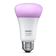 LED stmívatelná žárovka Philips HUE WHITE AND COLOR AMBIANCE 1xE27/10W/230V - 8718696592984