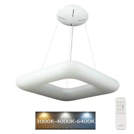 LED Stmívatelný lustr na lanku LED/40W/230V 3000K/4000K/6400K + dálkové ovládání