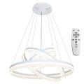 LED Stmívatelný lustr na lanku s dálkovým ovladačem RING LED/114W/230V