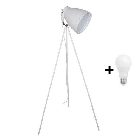 LED Stojací lampa 1xE27/10W/230V bílá 145cm