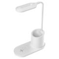 LED Stolní lampa LED/3W/5V s bezdrátovým nabíjením bílá