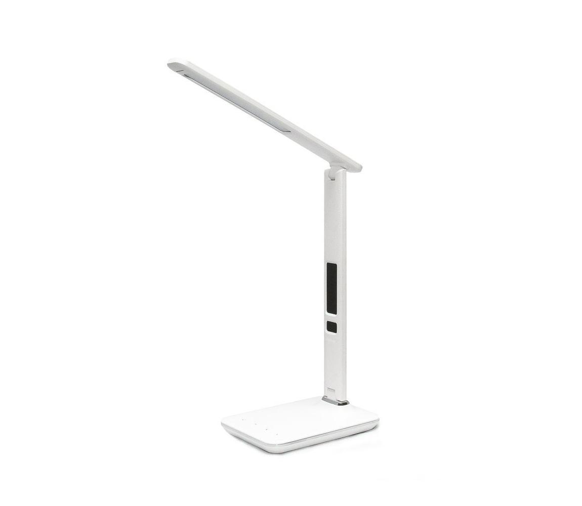 LED stolní lampa s displejem LED/9W/230V bílá