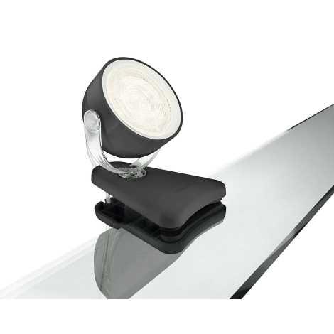 LED stolní lampa s klipem 1xLED/3W/230V