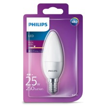 LED svíčka Philips E14/4W/230V - CANDLE mléčná
