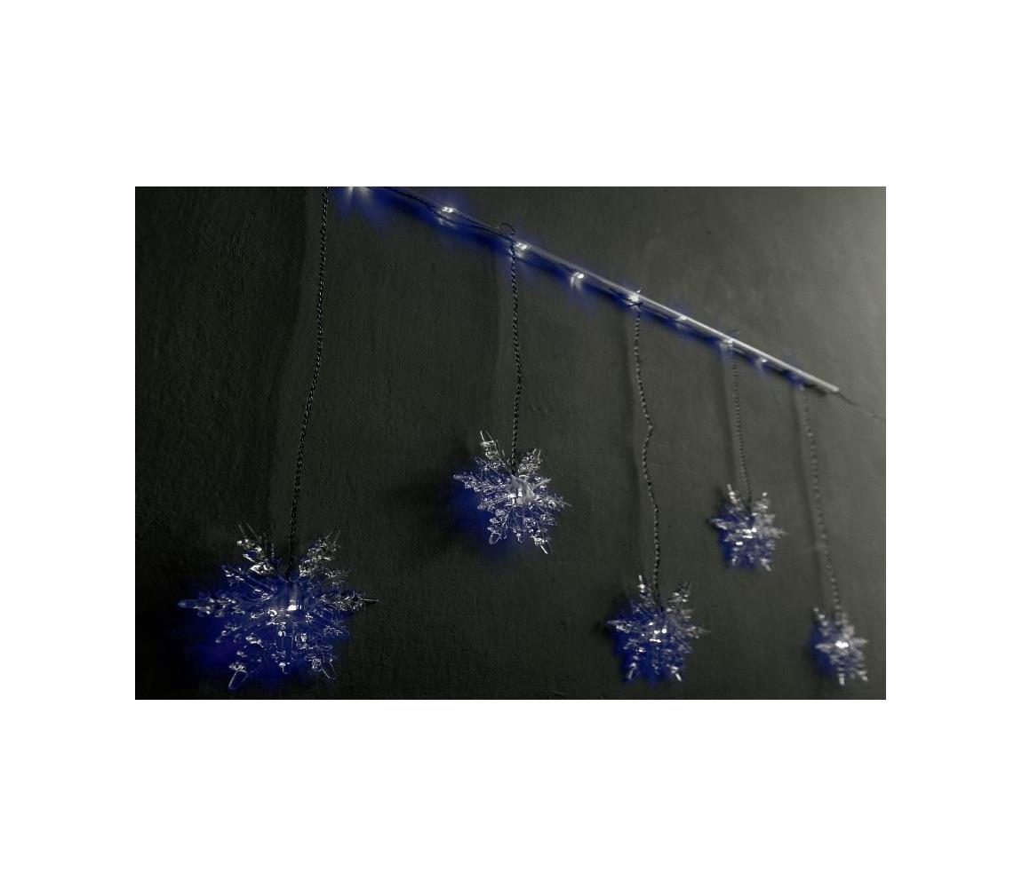 Exihand LED Vánoční dekorace na tyči SNOWFLAKE 5xLED/230V/24V