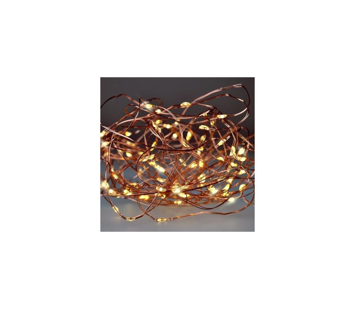 Solight LED Vánoční řetěz 10 m LED/3xAAA
