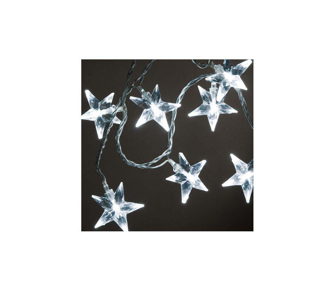 Exihand LED Vánoční řetěz STARS 0,9 m 10xLED/230V/24V