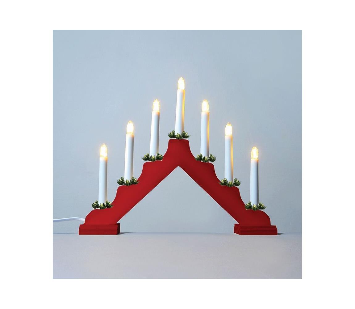 Exihand LED Vánoční svícen 7xLED/0,2W/230V EX0070