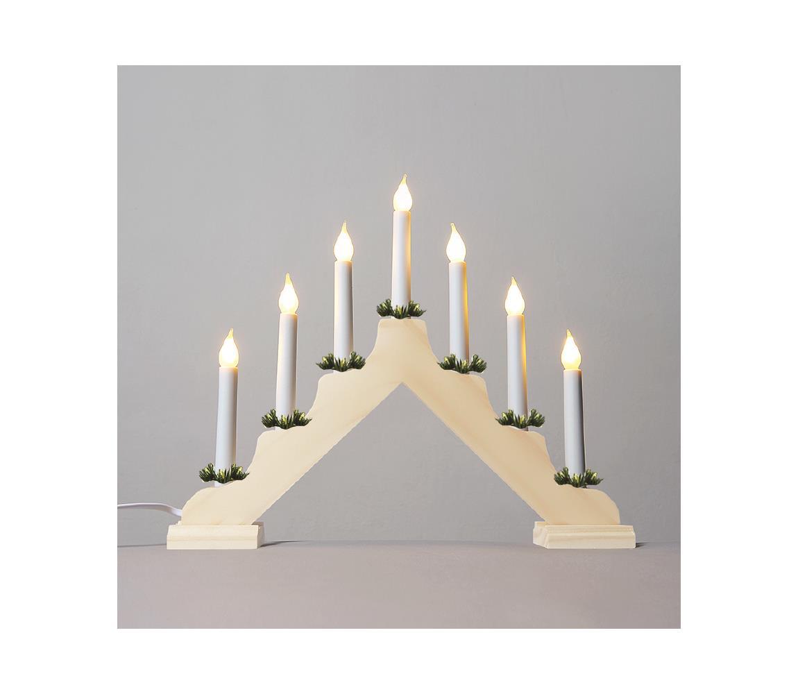 Exihand LED Vánoční svícen FILAMENT 7xLED/0,2W/230V EX0029