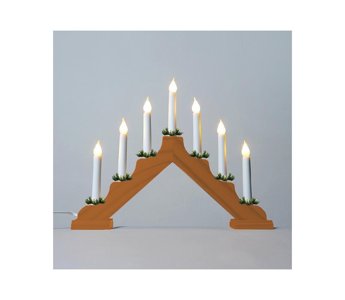 Exihand LED Vánoční svícen FILAMENT 7xLED/0,2W/230V EX0030