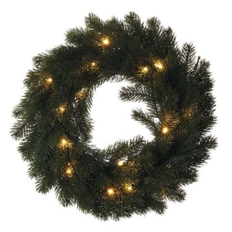 LED Vánoční věnec 20xLED/0,6W/2xAA