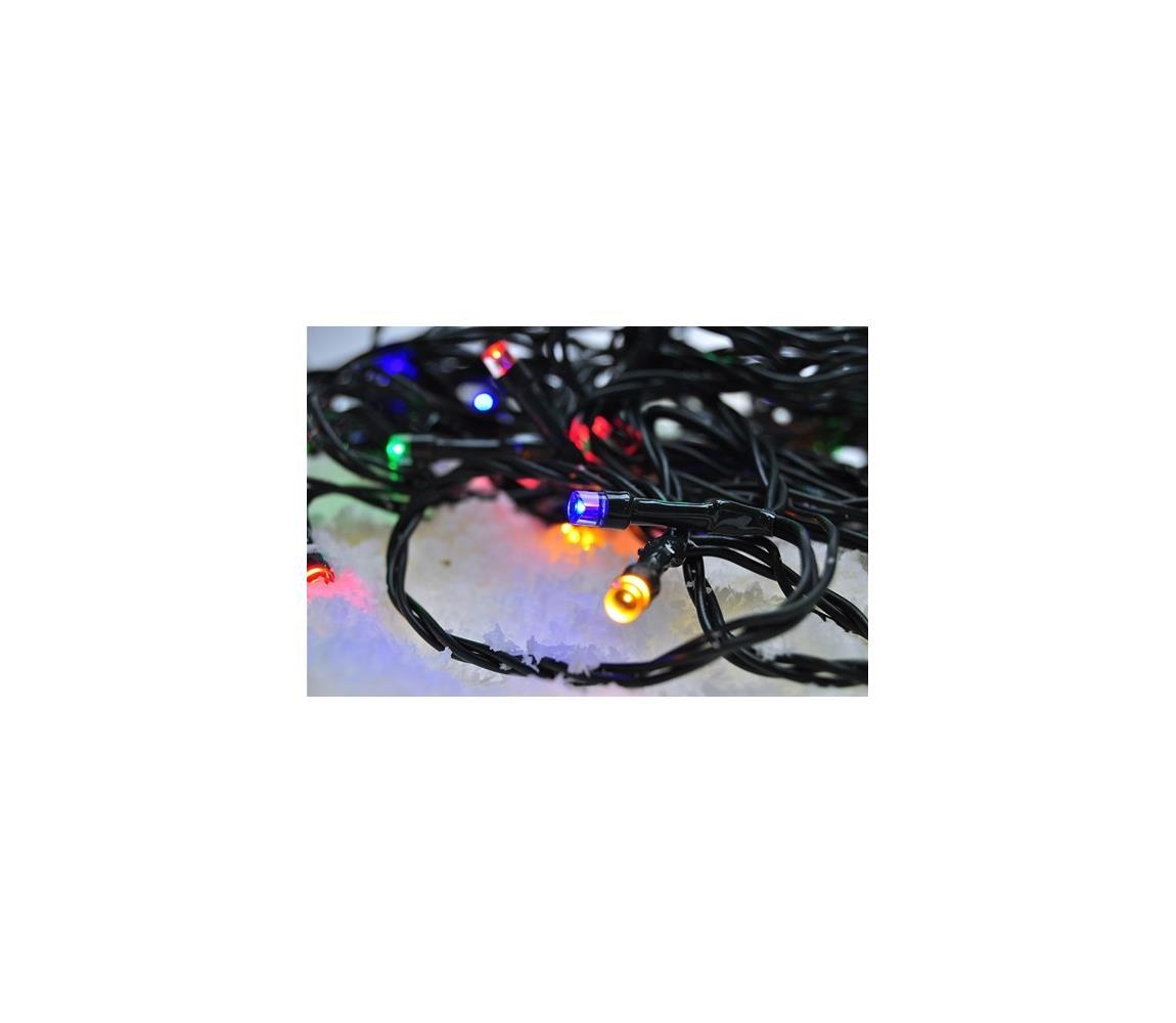 Solight LED Vánoční venkovní řetěz 100xLED/230V 10m IP44 barevný IP44