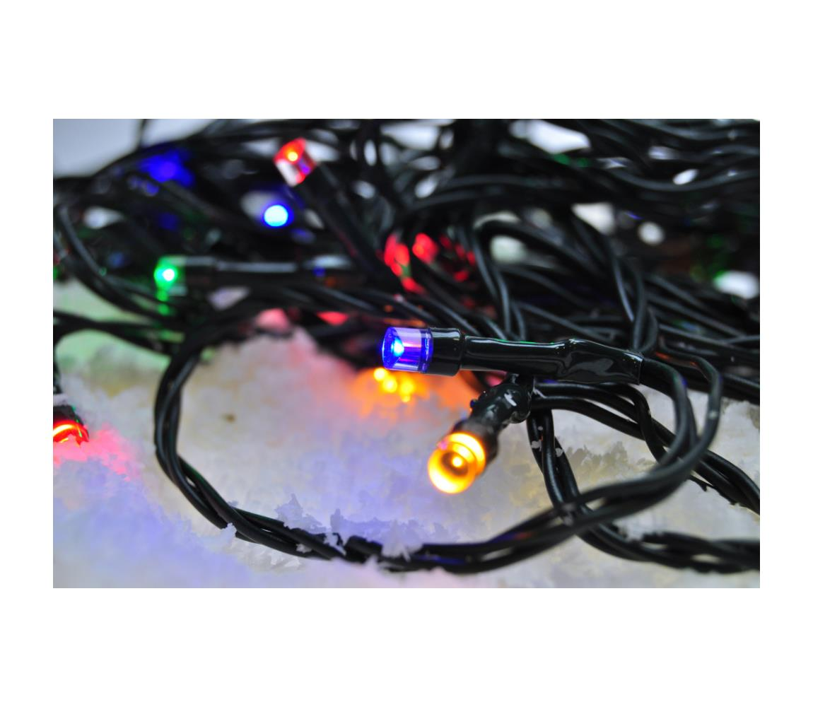 Solight LED Vánoční venkovní řetěz 200xLED/230V 20m IP44 barevný IP44