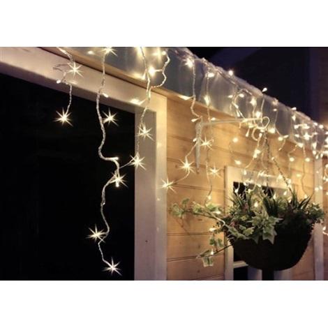LED Vánoční venkovní světelný závěs 120xLED/230V 3 m IP44