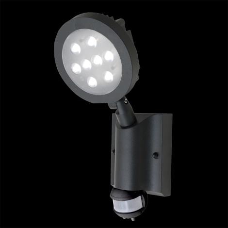 LED venkovní nástěnné svítidlo s čidlem NEVADA 8xLED/1W/230V