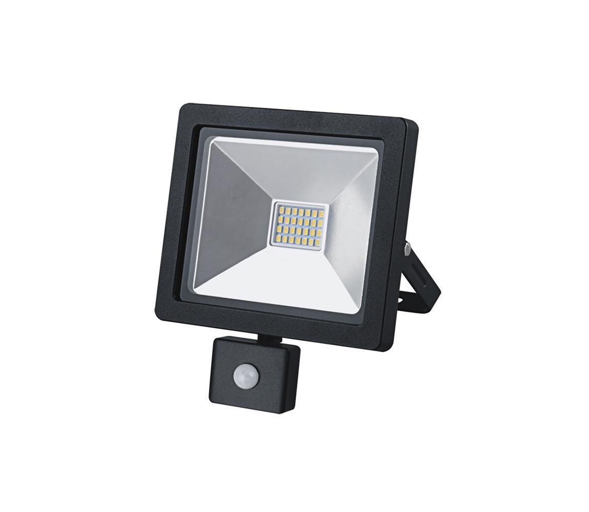 LED venkovní reflektor se senzorem LED/20W/230V černá
