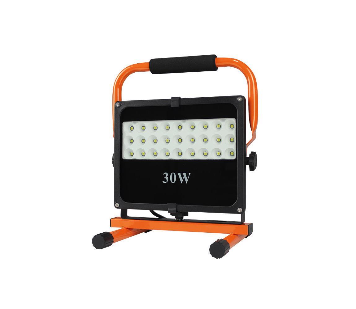 LED venkovní reflektor se stojanem LED/30W/230V černá