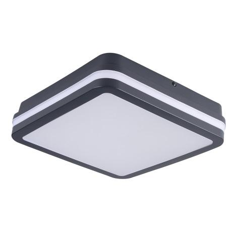 LED Venkovní stropní svítidlo se senzorem BENO LED/18W/230V IP54 antracit