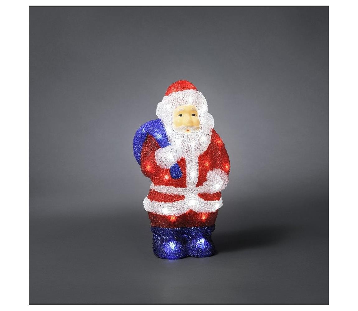 Exihand LED Venkovní vánoční dekorace SANTA CLAUS 48xLED/230V/24V IP44