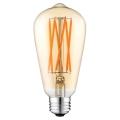 LED Žárovka CLASIC AMBER ST64 E27/10W/230V 2200K - Brilagi